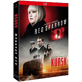 Coffret 2 films : red sparrow ; Kursk, Blu-ray