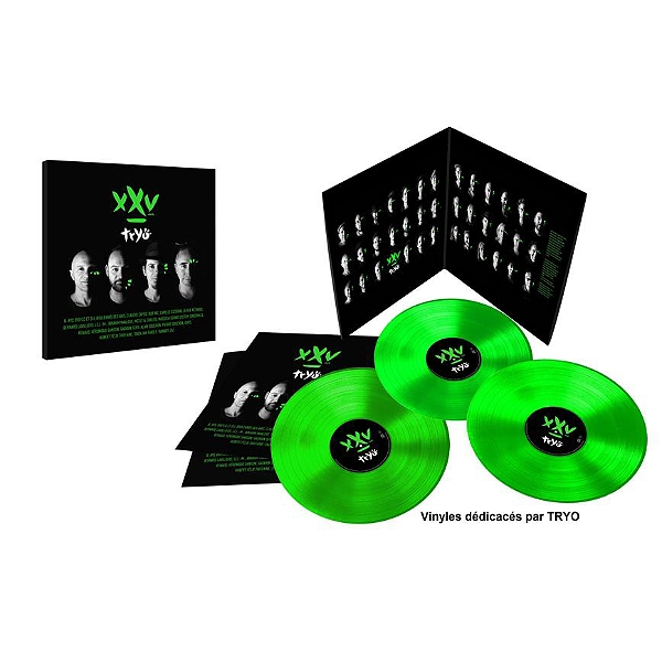 XXV ans - Triple vinyle vert dédicacé - Exclu Leclerc