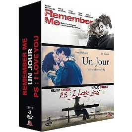Coffret 3 films : un jour ; remember me ; p.s. : I love you, Dvd