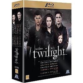 Coffret intégrale twilight : chapitres 1 à 5, Blu-ray