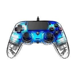 Manette filaire officielle PS4 clear blue (PS4)