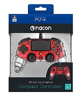manette-filaire-officielle-ps4-clear-red-ps4