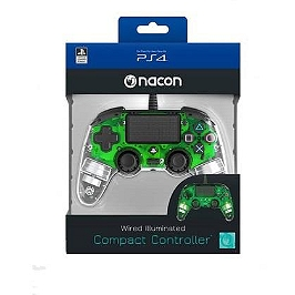 Manette filaire officielle PS4 clear green (PS4)