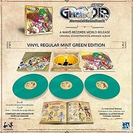 Vinyle - grandia memorial soundtrack/box 3LP mint green 180G + livret 20P