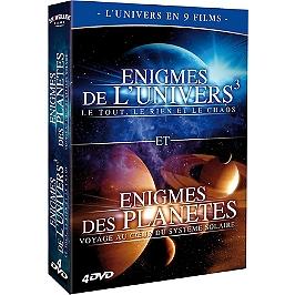 Coffret l'univers en 9 films : énigmes de l'univers ; énigmes des planètes, Dvd