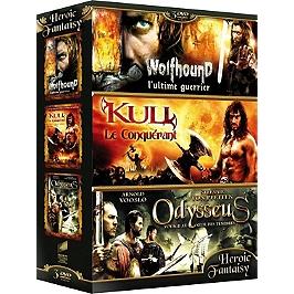 Coffret heroic fantasy 3 films : wolfhound ; Kull, le conquérant ; Odysseus, voyage au coeur des ténèbres, Dvd