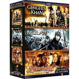 Coffret héros de légende 3 films : Gengis Khan ; Mulan ; Barbarossa, Dvd