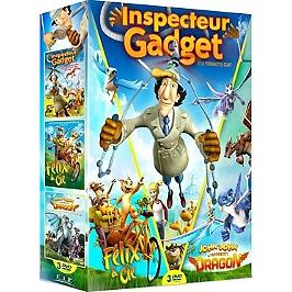 Coffret animation 3 films : Félix et cie ; inspecteur Gadget ; John-John, l'apprenti dragon, Dvd