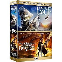 Coffret famille 2 films : l'enfant loup ; moi, Arthur, 12 ans, chasseur de dragons, Dvd