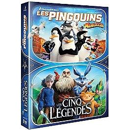 Coffret 2 films : les pingouins de Madagascar ; les cinq légendes, Dvd