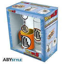 DRAGON BALL - pack verre 29cl + keyring + mini mug