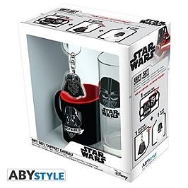 STAR WARS - pack verre 29cl + keyring + mini mug
