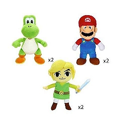 Assortiment Nintendo 3 x 2 peluches