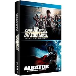 Coffret mangas cultes 2 films : les chevaliers du zodiaque, la légende du sanctuaire ; Albator, corsaire de l'espace, Blu-ray