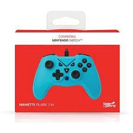 Manette filaire bleue pour Nintendo Switch (SWITCH)
