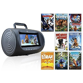 dvd lecteur dvd portable 8 films enfants exclusivit e leclerc espace culturel e leclerc. Black Bedroom Furniture Sets. Home Design Ideas