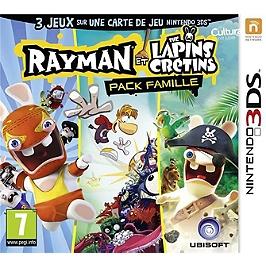 Rayman et les Lapins Crétins family pack (3DS)