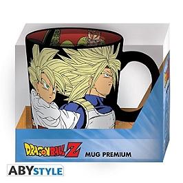DRAGON BALL - Mug Premium - 460 ml - Saiyans vs Cyborgs