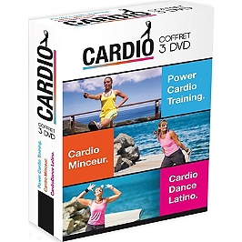 Coffret cardio : power cardio training ; cardio minceur ; cardio dance latino, Dvd