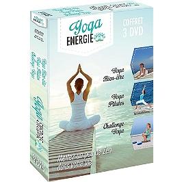 Coffret yoga énergie ; yoga bien-être ; yoga Pilates ; challenge Yoga, Dvd