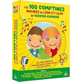 Coffret les 100 comptines animées de Léon et Lilou en version karaoké, Dvd