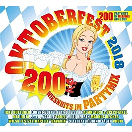 Oktoberfest 2018 200 Wiesnhits im Partymix, CD + Box