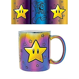 Mug métallique super mario star power