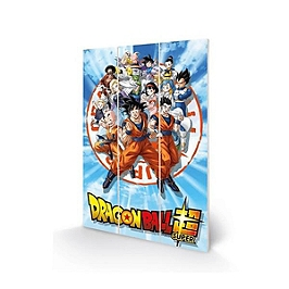 Dragon ball wood art super goku and the z fighters