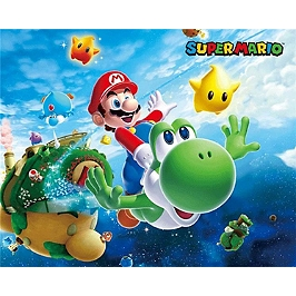 Cadre 3D lenticulaire Mario Galaxy