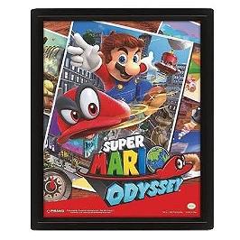 Cadre 3D lenticulaire Mario Odyssey