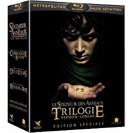 Coffret trilogie le seigneur des anneaux : la communauté de l'anneau ; les deux tours ; le retour du roi, édition spéciale, Blu-ray