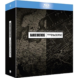 Coffret band of brothers ; the Pacific, Blu-ray