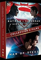 Coffret Batman vs Superman 2 films : l'aube de la justice ; man of steel en Dvd