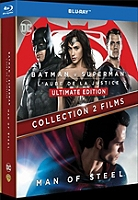 Coffret Batman vs Superman 2 films : l'aube de la justice ; man of steel en Blu-ray