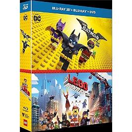 Coffret Lego 2 films : Lego Batman, le film ; la grande aventure Lego, Blu-ray 3D