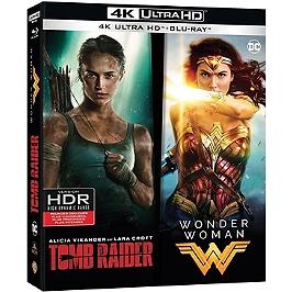 Coffret héroïnes 2 films : tomb raider ; Wonder Woman, Blu-ray 4K