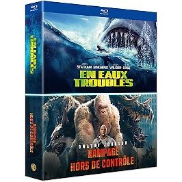 Coffret grosses bêtes 2 films : en eaux troubles ; rampage - hors de contrôle, Blu-ray