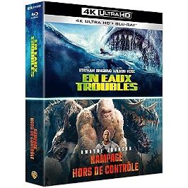 Coffret grosses bêtes 2 films : en eaux troubles ; rampage - hors de contrôle, Blu-ray 4K
