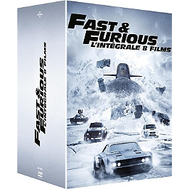 Coffret fast and furious 8 films, Dvd