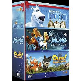 Coffret 3 grands films pour les petits : Mune, le gardien de la lune ; oups ! j'ai raté l'arche ; Norm, Dvd