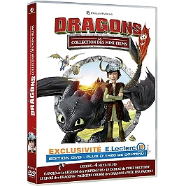 Dragons : la collection des mini-films, exclusivité E. Leclerc, édition exclusive, Dvd