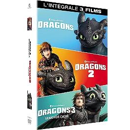 Coffret dragons 1 à 3 : dragons ; dragons 2 ; le monde caché, Dvd