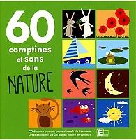 60 comptines+sons de la nature de Compilation en CD