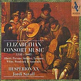 Elizabethan Consort Music. Parsons, Strogers, Taverner White, Woodeock & anonymes, CD