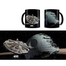 Mug céramique star wars - millenium falcon VS death star