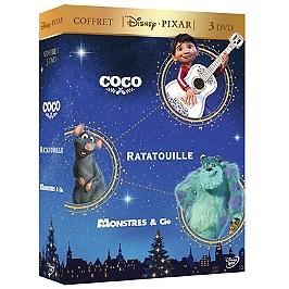 Coffret Disney Pixar 3 films : Coco ; Ratatouille ; monstres et cie, Dvd