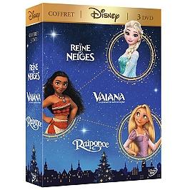 Coffret Disney 3 films : Vaiana, la légende du bout du monde ; la Reine des neiges ; Raiponce, Dvd