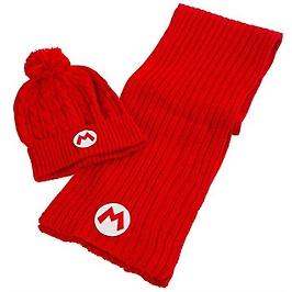 Nintendo coffret cadeau bonnet echarpe super mario