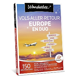 Wonderbox - Vol aller-retour Europe en duo
