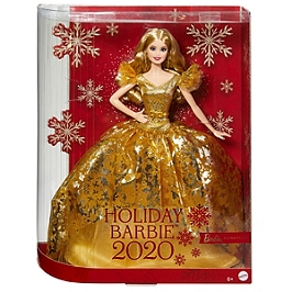 Barbie Signature - Barbie Joyeux Noel 2020 Blonde - Poupée Mannequin De Collection - 6 Ans Et + - Barbie Collector - GHT54